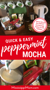 How to Set Up the Perfect Holiday Hot Beverage Station | Create a Coffee Bar in Your Home | Easy Peppermint Mocha Recipe